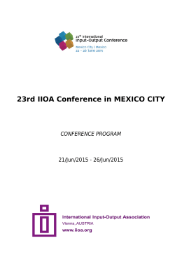 23rd IIOA Conference in MEXICO CITY