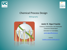 Chemical Process Design - OCW Universidad de Cantabria
