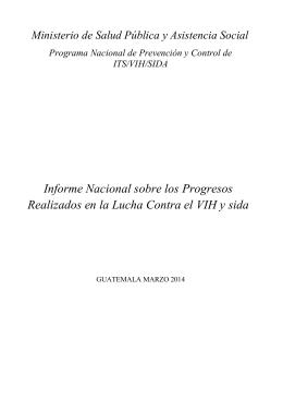 Informe Nacional sobre los Progresos Realizados en la