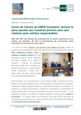 Curso de Verano de UNED Cantabria: merece la