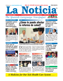 gratis - La Noticia - The Spanish