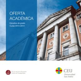 OFERTA ACADÉMICA - Universidad San Pablo CEU