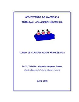 ministerio de hacienda tribunal aduanero nacional curso de