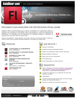 Diplomado Flash Developer con Certificacion Oficial