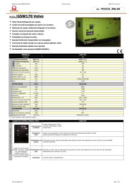 caracteristicas tecnicas gsw170v insonoro 400v