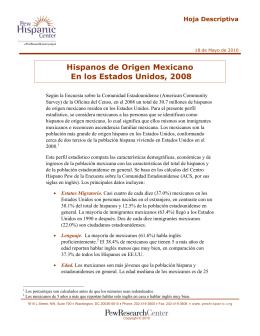 Hispanos de Origen Mexicano En los Estados Unidos, 2008