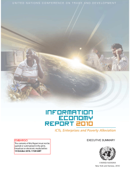 Information Economy Report 2010 - Executive summary