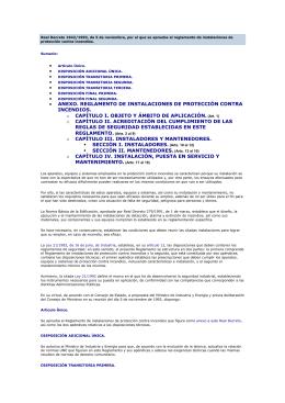 • ANEXO. REGLAMENTO DE INSTALACIONES DE PROTECCIÓN