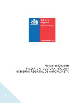 Manual de norma gráfica FNDR Cultura 2014