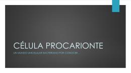 Célula Procarionte y Eucarionte