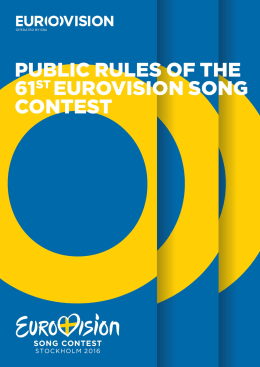 2016 rules - Eurovision Song Contest