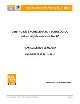DATOS DEL PLANTEL - Sistema de Evaluación y Mejora