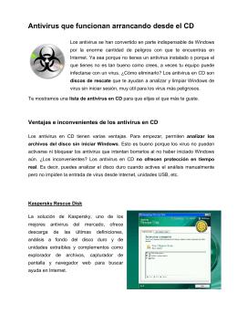 Antivirus que funcionan arrancando desde el CD