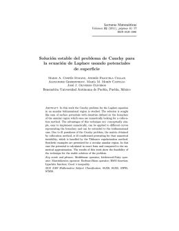 Solución estable del problema de Cauchy para la ecuación de