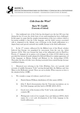 Celts from the West? - Universidad Autónoma de Madrid