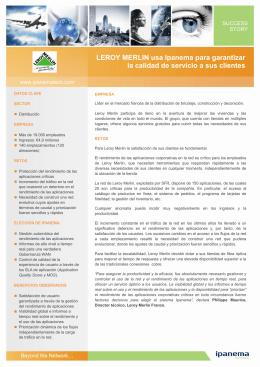 LEROY MERLIN usa Ipanema para garantizar la calidad de servicio