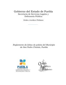 Orden Jurídico Poblano - Gobierno Municipal de San Pedro Cholula