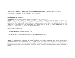 N.J.F. 1170 - Gobierno de La Pampa