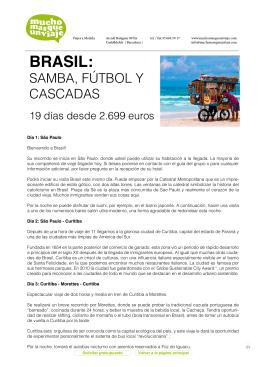 Ver viaje a Brasil - muchomasqueunviaje.com