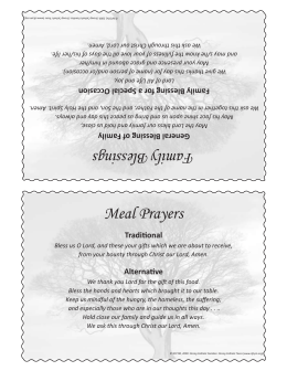 Meal Prayers Family Blessings