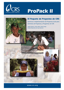 ProPack II - Catholic Relief Services