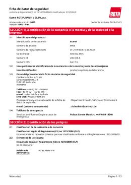 Ficha de Datos de Seguridad: Etanol