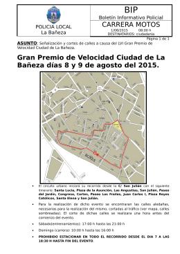 CARRERA MOTOS Gran Premio de Velocidad Ciudad de La