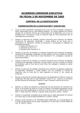 avance de los acuerdos tomados por la comision ejecutiva