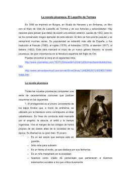 La novela picaresca. El Lazarillo de Tormes
