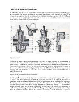-1- Carburador de corredera Bing modelo 84