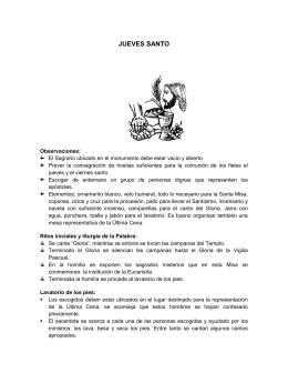 JUEVES SANTO - Diócesis de La Dorada
