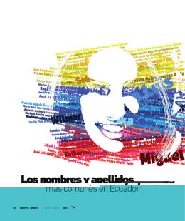Nombres y apellidos más comunes del Ecuador