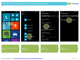 Configurar correo Hotmail en Windows Phone