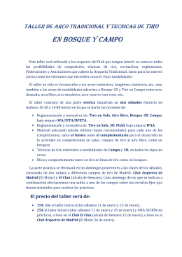 EN BOSQUE Y CAMPO - Club Arqueros de Leganés