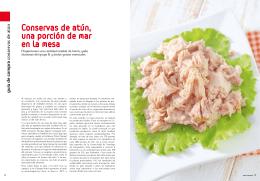 Conservas de atún, una porción de mar en la mesa