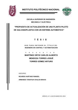 Tesis galvanoplastia 19 DE MAYO DEL 2014