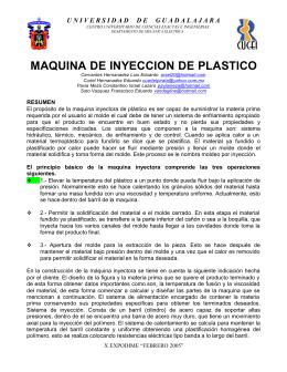 MAQUINA DE INYECCION DE PLASTICO