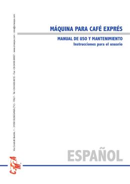 MÁQUINA PARA CAFÉ EXPRÉS