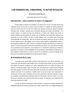 LOS SONIDOS DEL CAÑAVERAL: FLAUTAS RITUALES