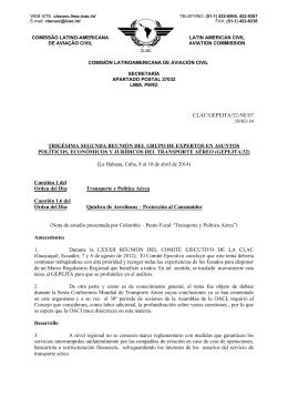 clac/gepejta/32-ne/07 - Comisión Latinoamericana de Aviación Civil
