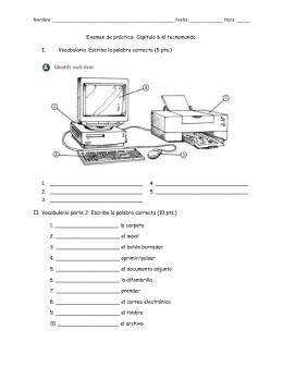 Examen de práctica- Capítulo 6 el te - Reeths