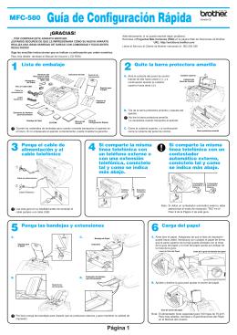 MFC-580 Guía de Configuración Rápida
