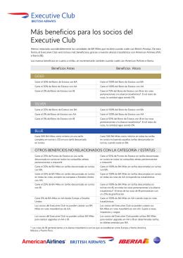Más beneficios para los socios del Executive Club