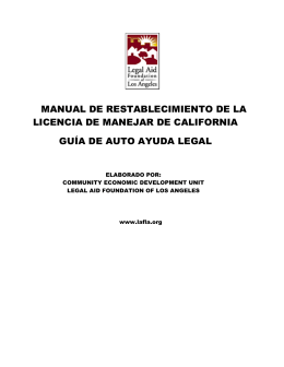 DL Manual Sp rev 1-10 - Legal Aid Foundation Los Angeles