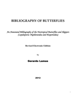 BIBLIOGRAPHY OF BUTTERFLIES