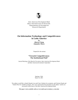 INFORMATION TECHNOLOGIES AND TECHNOLOGICAL