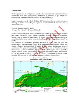 3.d Descripcion Biofisica del area, Zonas de Vida