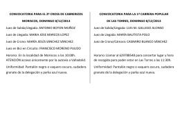 CONVOCATORIA PARA EL 2º CROSS DE CABRERIZOS