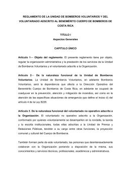 reglamento de la unidad de bomberos voluntarios y del voluntariado