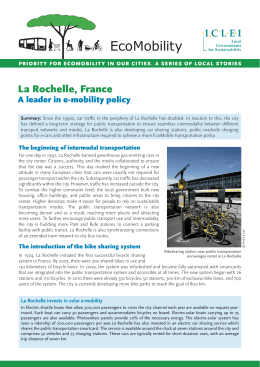 La Rochelle, France: A leader in e-mobility policy